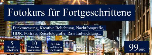 Fotokurs für Fortgeschrittene in Berlin